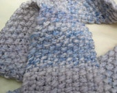 CLEARANCE Silver Periwinkle - Handspun, handknit scarf