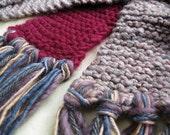 CLEARANCE Tempestuous Affair - Handspun, handknit scarf