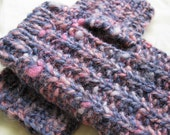 CLEARANCE Frigid Rose - Handspun, handknit mitts