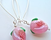 Pink Peach Fruit Earrings - Part of Our Carmen Collection- Japanese Vintage
