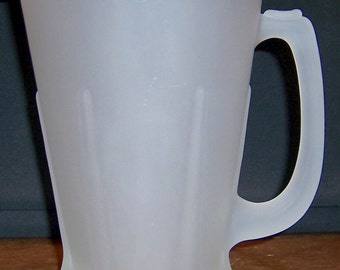 Vintage Indiana Glass Tiara, Heavy Frosted Glass Pitcher