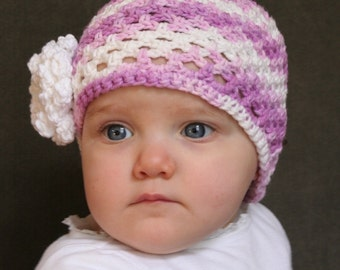 Hat Easy CROCHET PATTERN 0-6 years Easy Baby and Child's in 4 SIZES