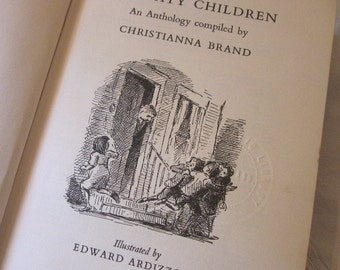vintage book, Naughty Children, An Anthology compiled by Christianna Brand, Illustrated by Edward Ardizzone, 1963 HCDJ 1st Edition, humorous