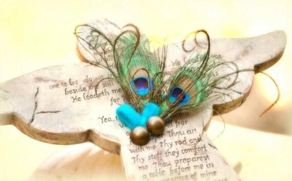 Peacock Clip / Comb by Sofisticata. Elegant Big Day Edgy Accessory, Wedding Feminine Flower Girl Teen Birthday. Bride Bridal Bridesmaid Clip