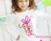 Appliqued Present Top...Ready for Delivery...Size 18m, 2, 4, 6 and 8
