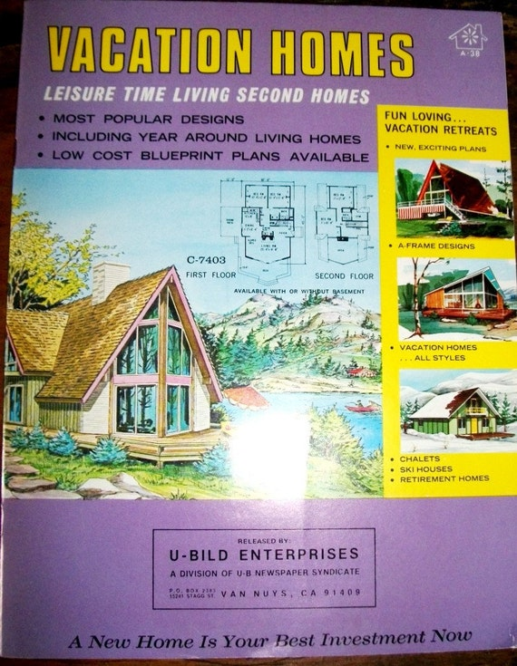 Vintage Vacation Home Plans Booklet