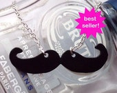 Movember Moustache necklace - choose your style - donation to MOVEMBER Prostate Cancer Charity