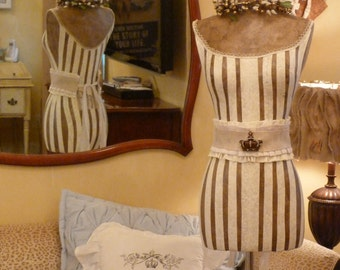 Vintage Inspired Dress Form Mannequin With Crown Belt  FREE SHIP & LAYAWAY