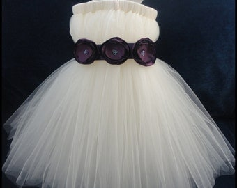 Eggplant Flower Girl Dress