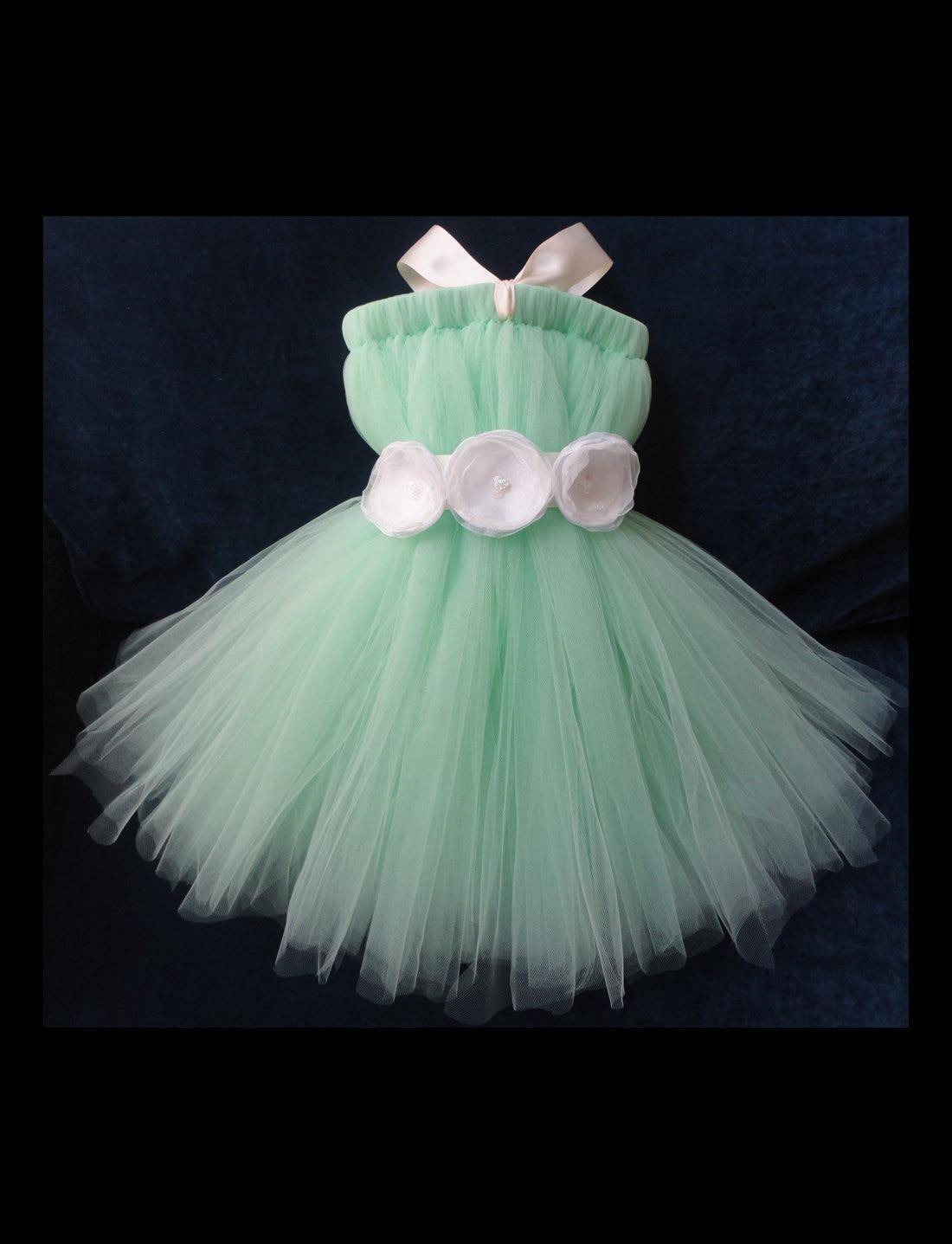 Mint Flower Girl Dress by StrawberrieRose on Etsy