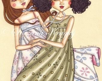 Ring a-ring o' roses-Fine Art illustration print