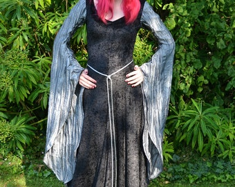 "Elvish Dress,Medieval Gown, Gothic Dress, Pagan Dress, Pre-Raphaelite Gown,  Medieval Dress ""Madeleine"""