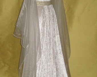 Medieval Wedding Dress, Renaissance Gown, Elvish Wedding Dress, Robe Medievale, Pre-Raphaelite Dress, Hand Fasting Gown, Medieval Gown,Irma