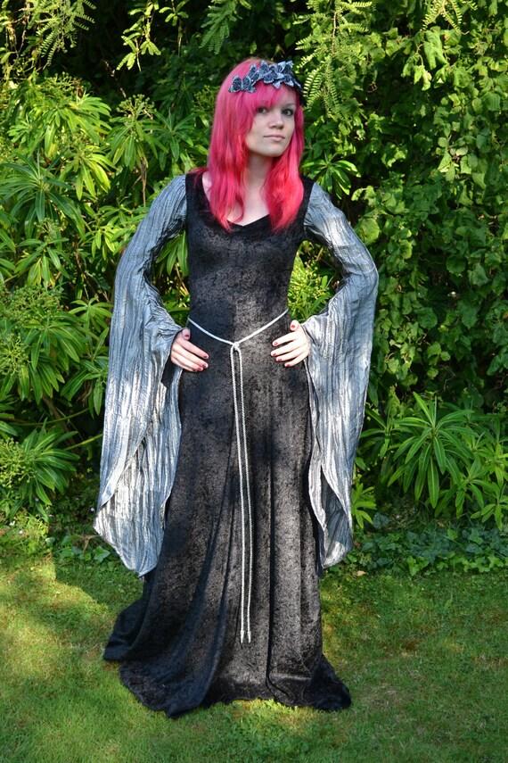 """Elvish Dress,Medieval Gown, Gothic Dress, Pagan Dress, Pre-Raphaelite Gown,  Medieval Dress """"Madeleine"""""""