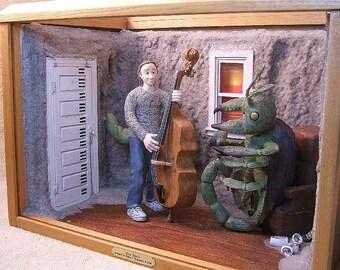 Surrealist Sculpture Shadowbox