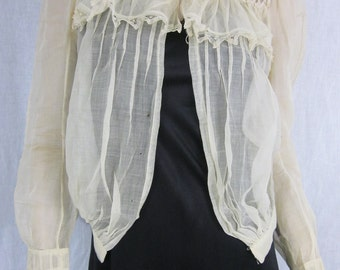 Edwardian Ivory Lace Jacket Blouse