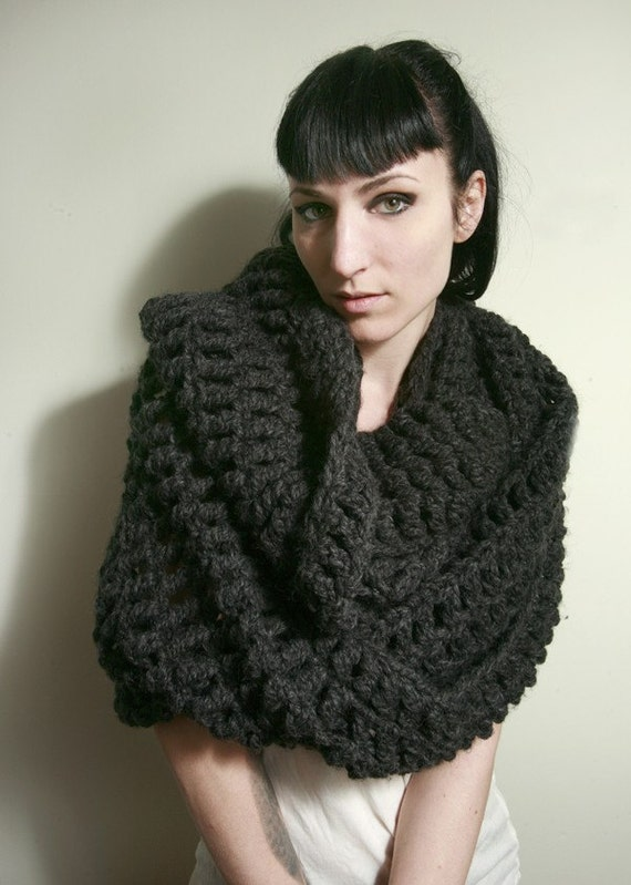 SALE - The Tallulah Wrap Scarf in Charcoal Grey