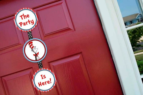 Welcome Door Sign - Dr. Seuss Birthday Party Line - STYS
