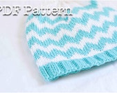 Chevron Knit Baby Hat Pattern