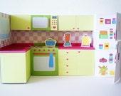 Printable kitchen set - PDF paper craft