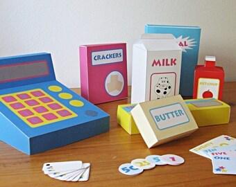 Printable play shop - PDF paper craft