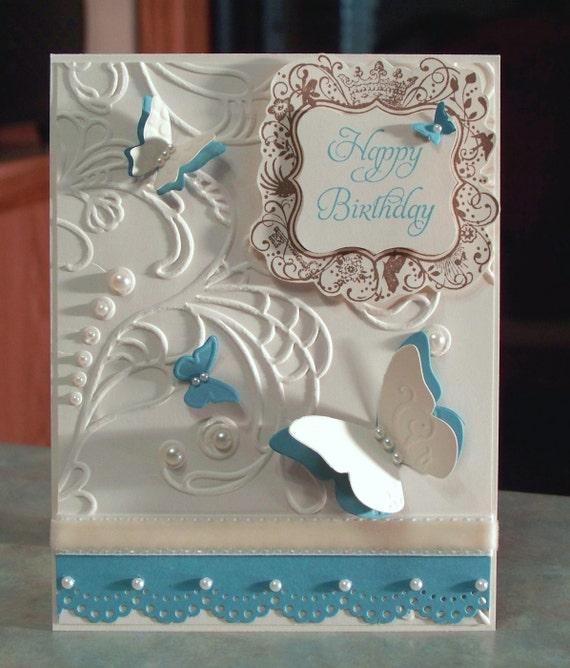 Birthday Card, Stampin Up Elementary Elegance