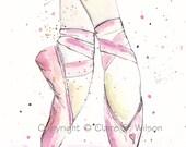 Ballet - Original watercolor 8x10