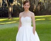 Wedding Dress with Lace Sweetheart Bodice