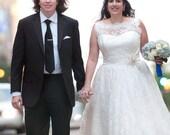 Lace Tea Length Wedding Dress