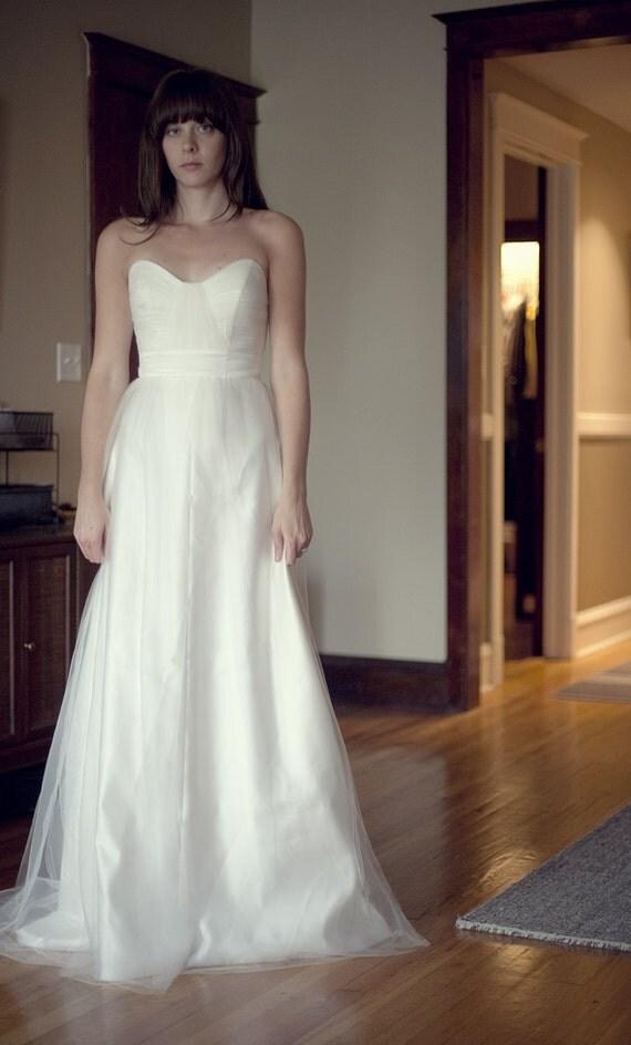 Tulle Wedding Dress with Sweetheart Bodice Julianna Style