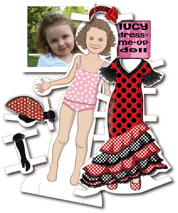 Personalized Paper Doll Kit - printable - DIGITAL FILES
