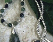 CLEARANCE - Moss Agate Necklace