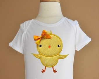 Silly Easter Chick 2 Applique