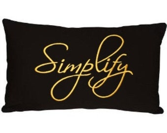 SIMPLIFY - Life Sentiments Embroidery Designs