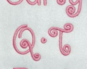 Curly QT Font - 5 sizes