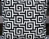 FREE U.S. SHIPPING - Two 16x16 inch Designer Indoor / Outdoor Pillow Cover. Greek Key Design by - Mill Creek Oskar, Terrace Flint.