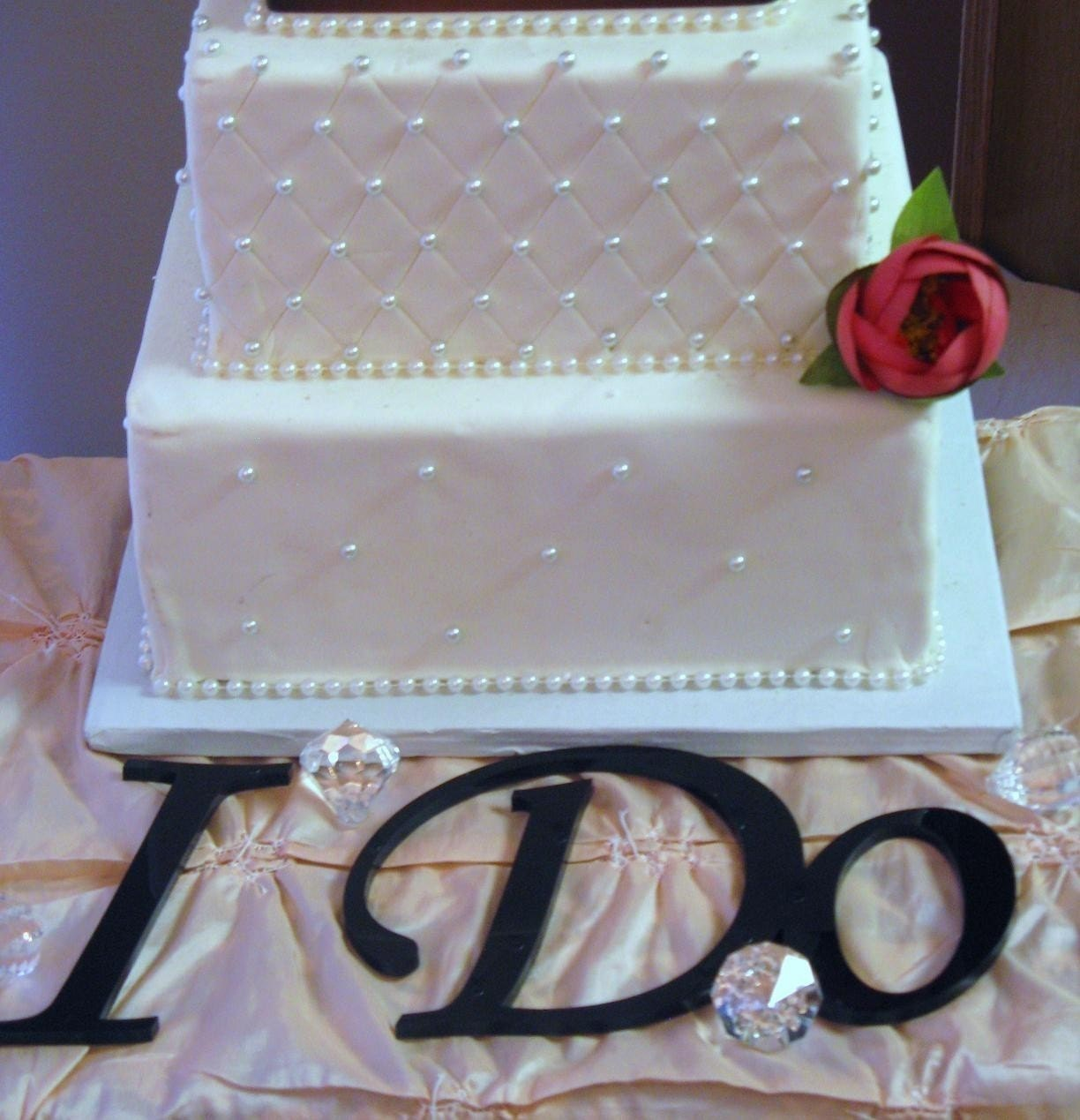 I DO Cake Table Letters For Wedding Cake Table By