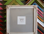 12x12 square picture frame in fancy trim style with vintage white finish decorative 12x12 frame can be any color handmade wooden 12x12
