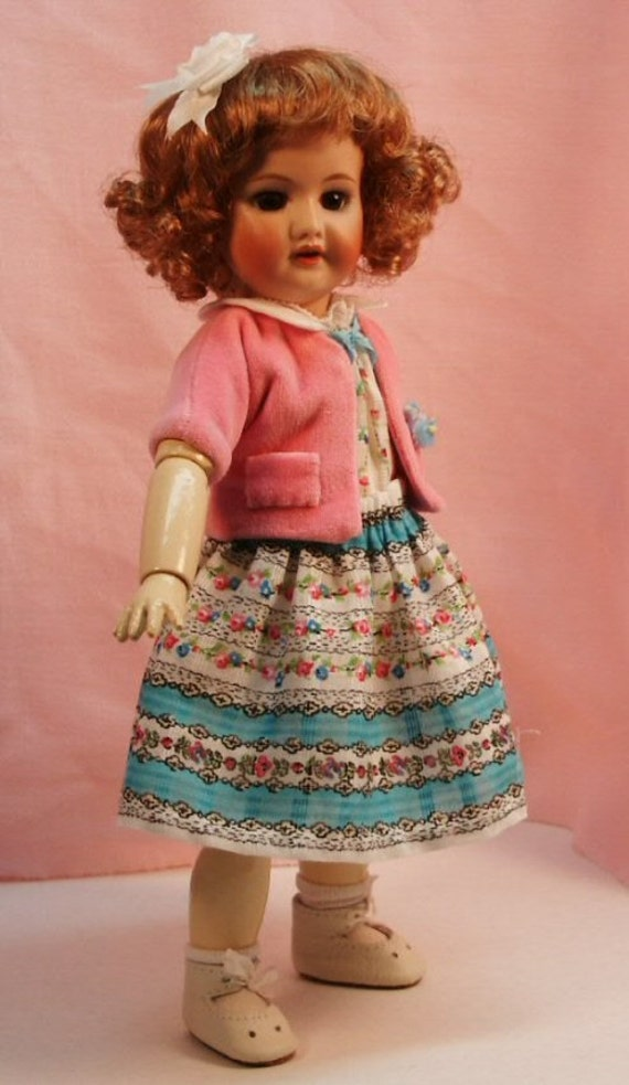 Bleuette pattern for doll clothing - La Semaine de Suzette styles from 1950 - Robe D'ete Summer Dress and Veste Raglan Jacket