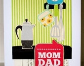 Retro . F A M i L Y . Home Sweet Home CARD . Old Fashioned I'm in a TREASURY Vintage Love Thanks Kitchen Food Remember 1358