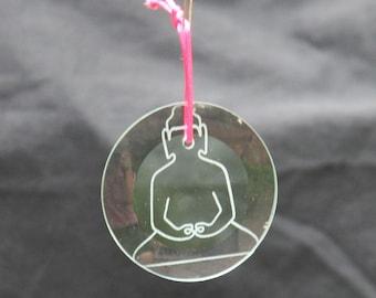 Glass Ornament - Buddha
