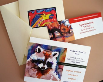 GIFT CERTIFICATE Two Watercolor Prints--Artist-signed