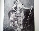 Frou Frou - 1892 Vintage Book Photogravure