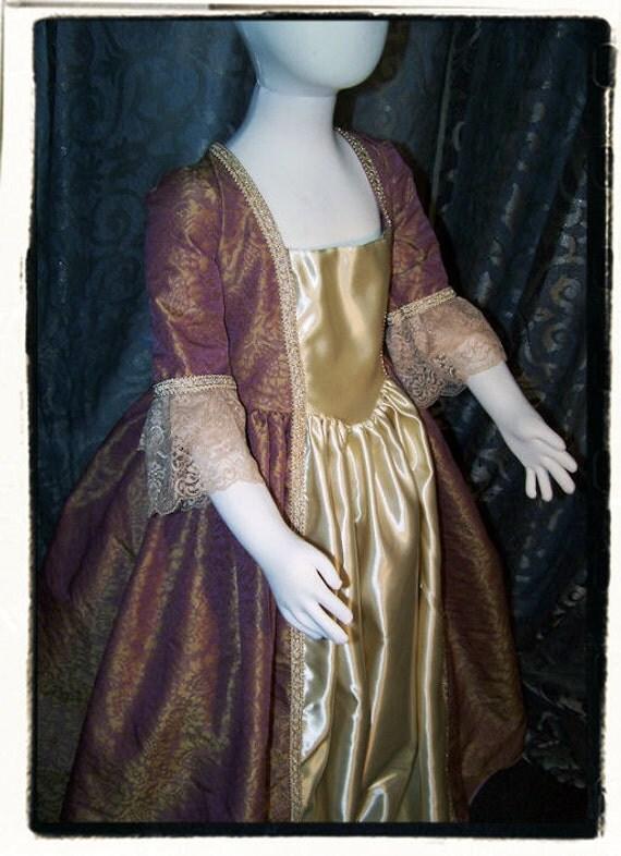 Marie Antionette Childs Fairy Tale Dress Tudor Renaissance  Costume Gown Size L Girls