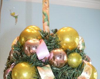 Tinker Bell Kissing Ball All Vintage Glass Christmas Ornaments