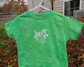Kids Dog Shirt (2T), Green Dog Shirt, Puppy Dog Shirt, Kids Puppy Shirt, Toddler Dog Shirt, Boys Dog Shirt, Girls Dog Shirt SALE