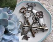 Antique Skeleton Keys-Set of Three