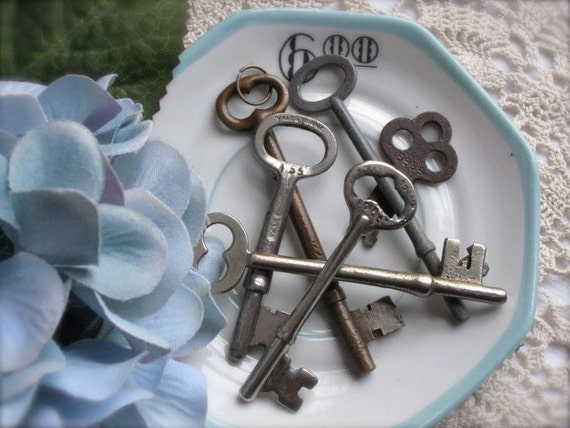 Antique Skeleton Keys-Set of Three