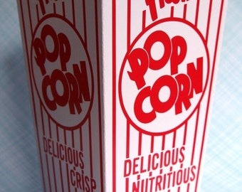 20 Retro Popcorn Boxes, Carnival Popcorn Boxes, Oscar Party, Movie Night Popcorn Boxes, Birthday Party