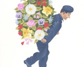 Fine art print - Man of Flowers